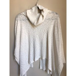 Cowl neck three quarter sleeve cardigan